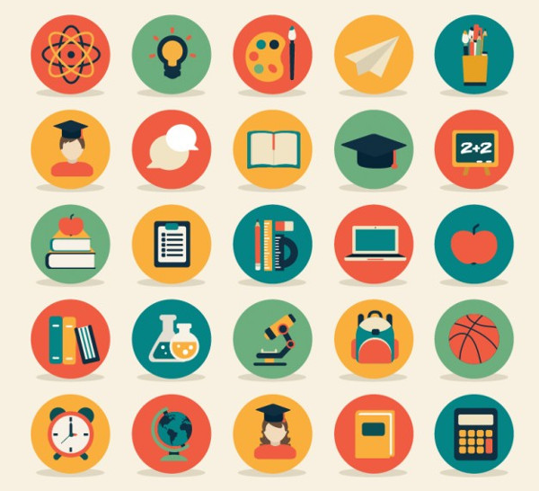 Education Icon Collection Free Download