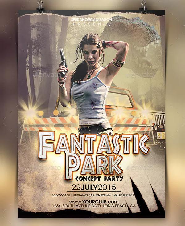 Fantastic Park Concept Party Flyer