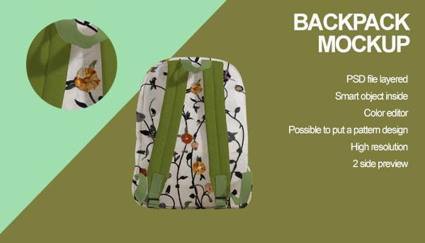 Fashion Backpack Mockup Design