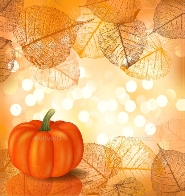 Fest Background with Pumpkin
