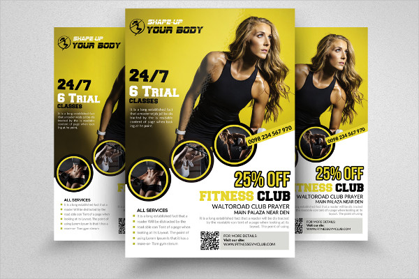 Fitness Club Ads Poster