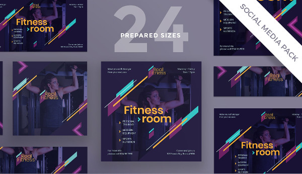Fitness Gym Social Media Pack