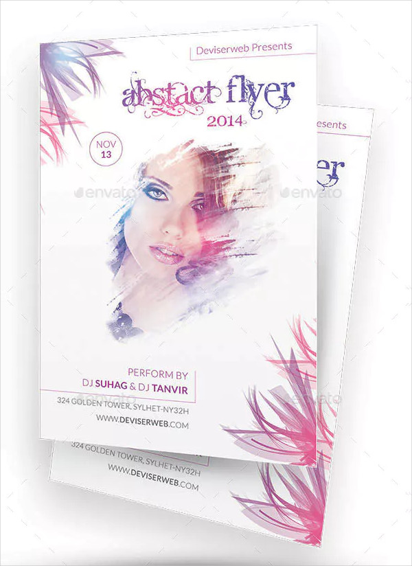 Floral Party Flyer Templates