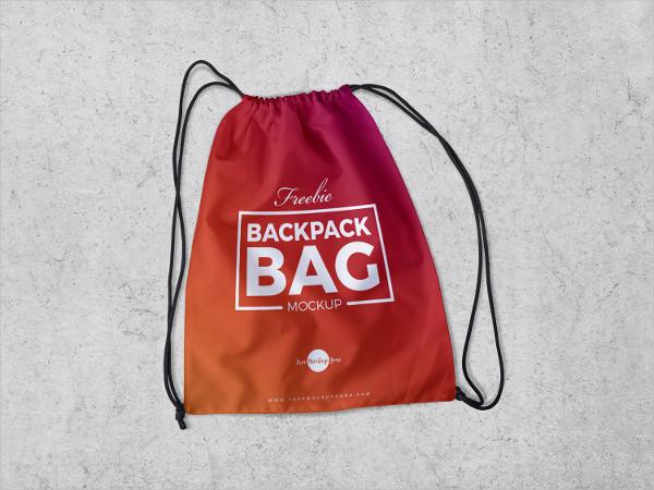 Free Backpack Bag Mock-Up PSD