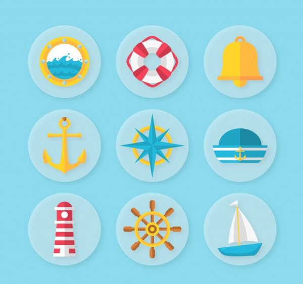 Free Download Nautical Vector Icon Pack