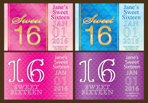 Free Download Sweet 16 Flyers