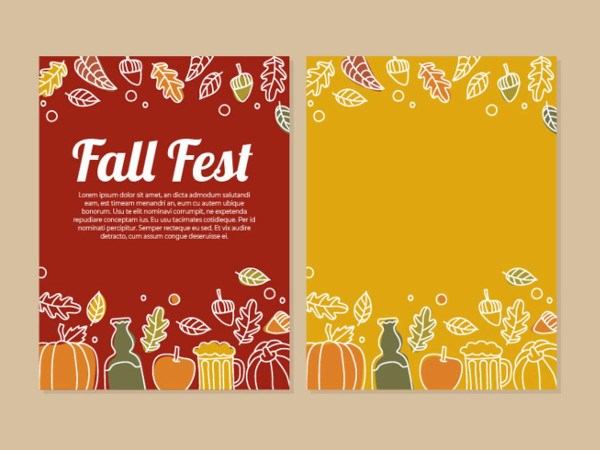 Free Fall Fest Party Flyer Design