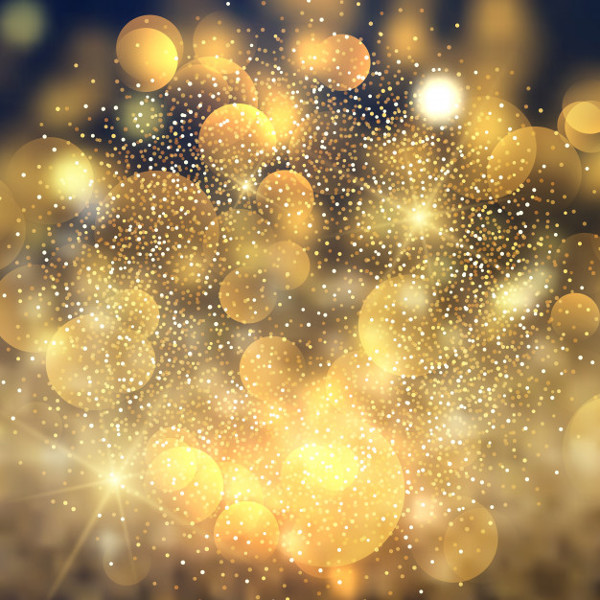 Golden Bokeh Lights Background Free Download