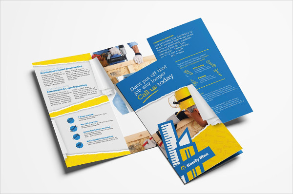 Handyman Trifold Brochure Template