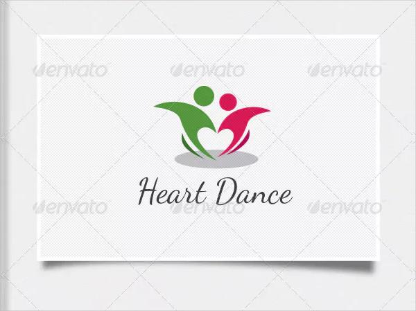 Heart Dance Logo Design