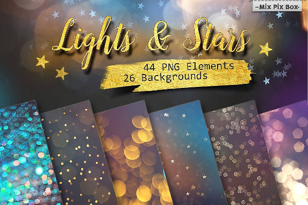 Lights & Stars Clipart & Backgrounds
