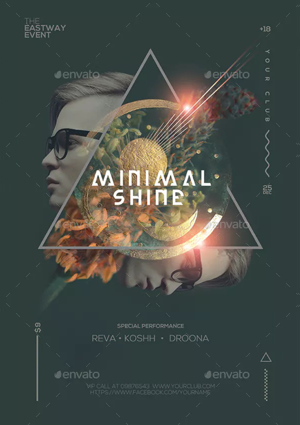 Minimal Guest DJ Party Poster