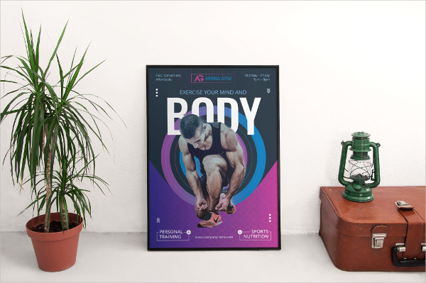 Modern Gym Training Posters