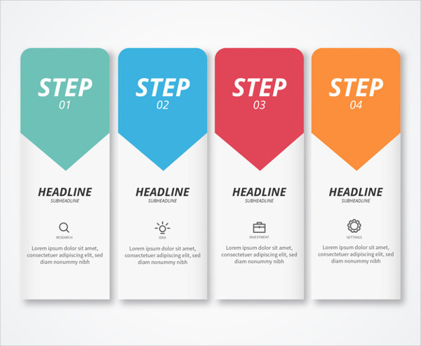 Modern Infographic Steps Free