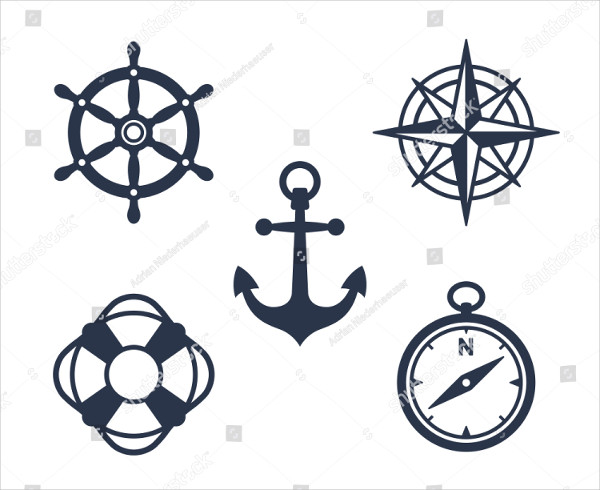 Nautical Icon Pack with an Anchor