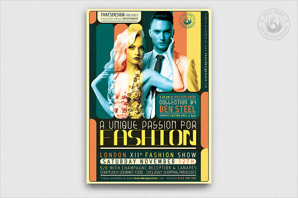 PSD Fashion Show Flyer or Poster Template