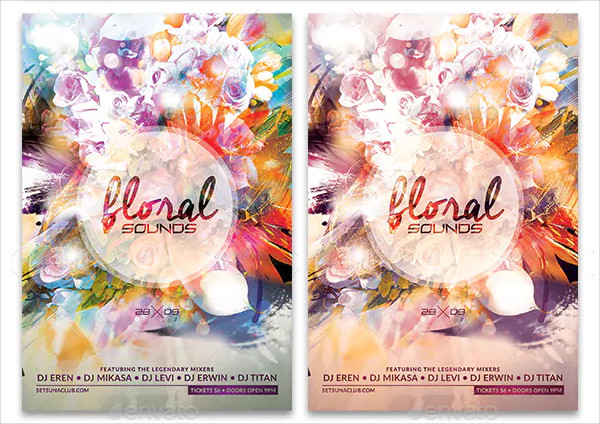 Perfect Floral Sounds Flyer