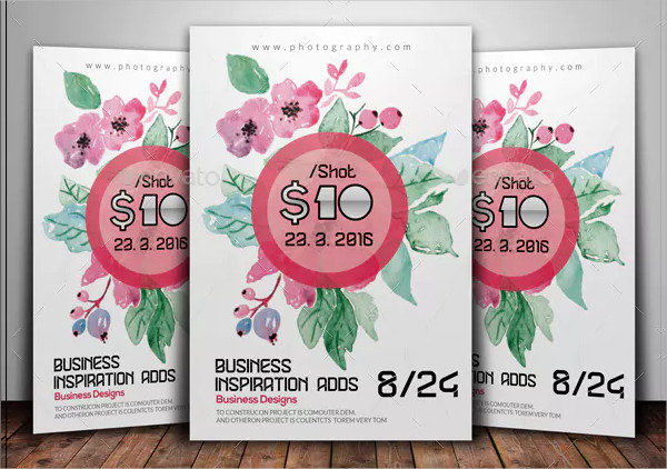 Pink Floral Flyer Template