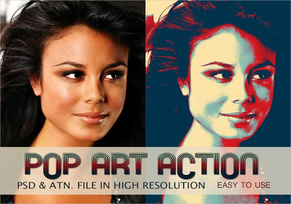 Pop Art Photo Effect PSD & Action Free