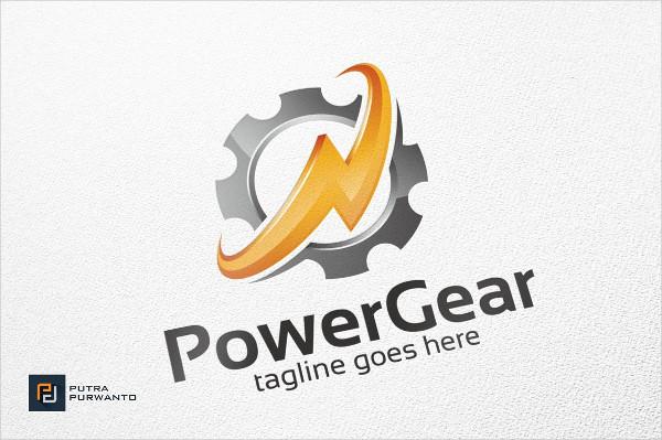 Power Gear Industrial Logo Design
