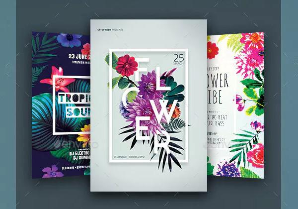 Printable Floral Flyers Bundle