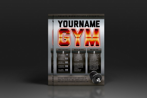 Printable Gym Advertising Poster