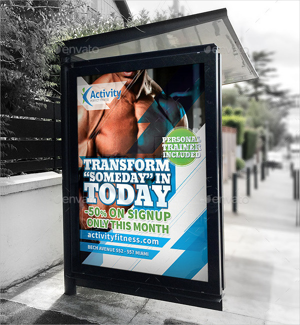 Professional Fitness & Gym Signage Poster