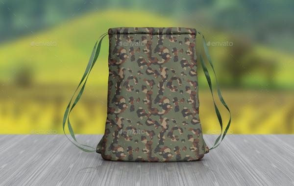 Realistic Cinch Backpack Mockup