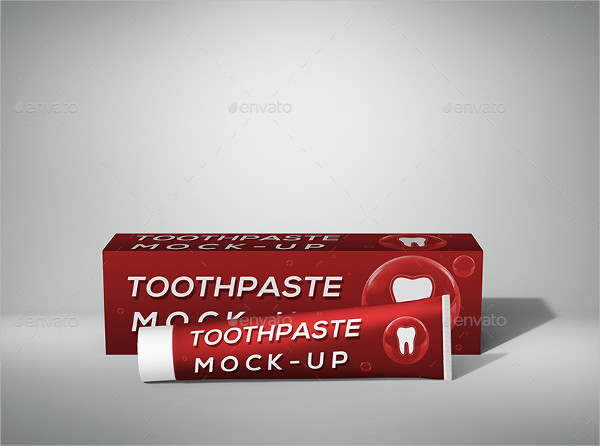 Realistic Toothpaste Mock-Ups Set