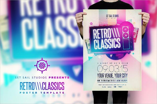 Retro Classics Poster Template