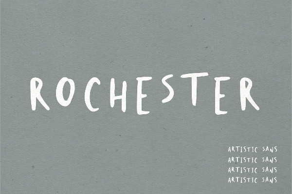Rochester Abstract Font