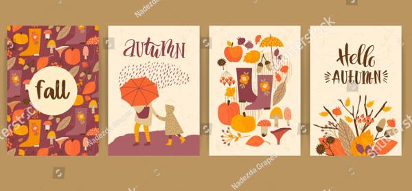 Set of Autumn Templates