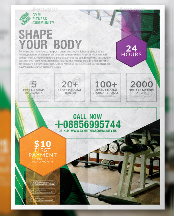 Simple Gym Flyer or Poster Design
