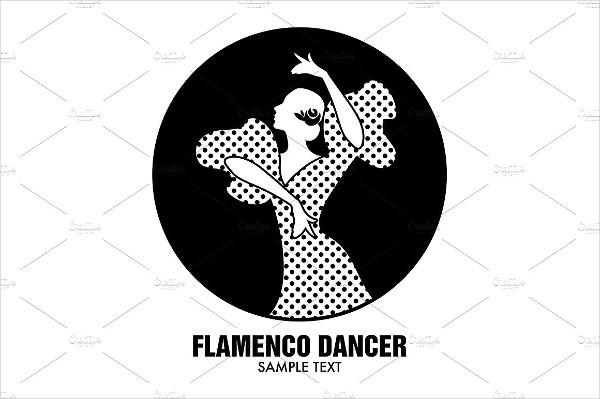 Spanish Flamenco Dancer Logo