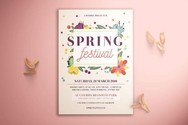Spring Festival Flyer Design