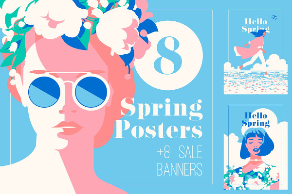 Spring Posters & Sale Banners