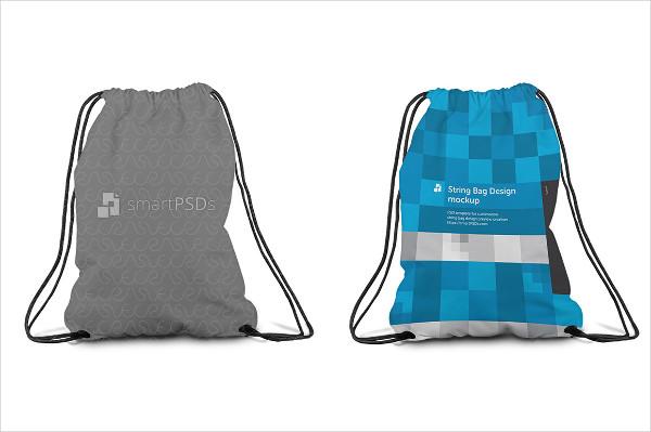 String Bag Sublimation Design Mockup