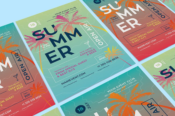 Summer DJ Party Poster or Flyer Template