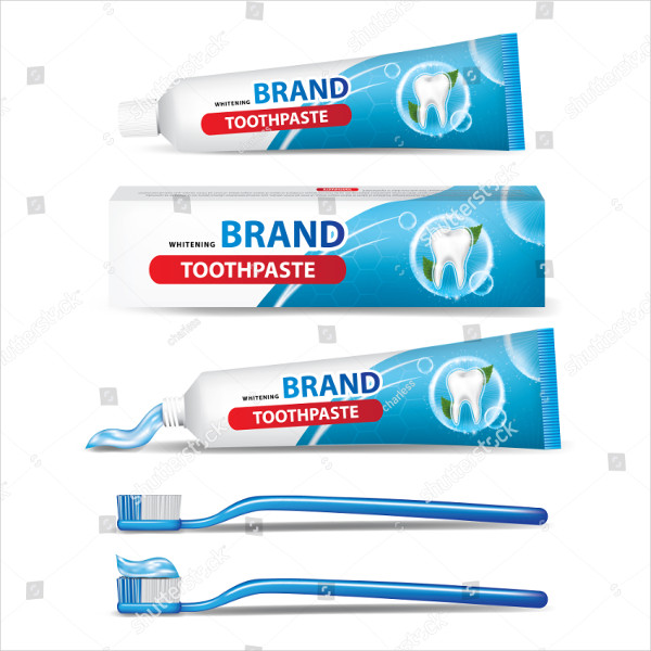 Toothpaste & Toothbrush Vector Illustration