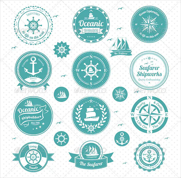 Vector Illustration of Nautical Icon Pack