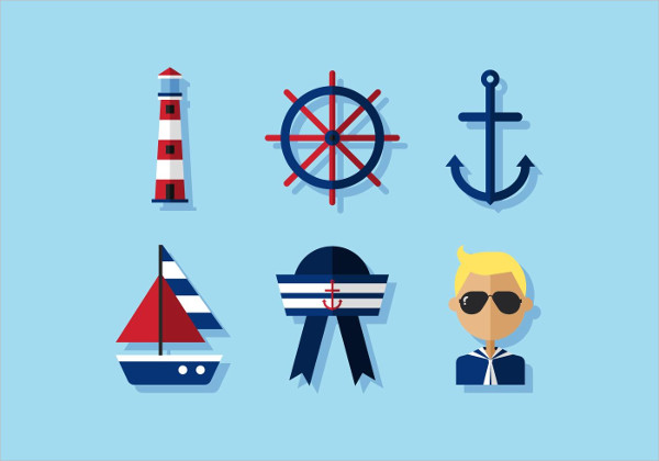 Vector Nautical Icon Set Free Download