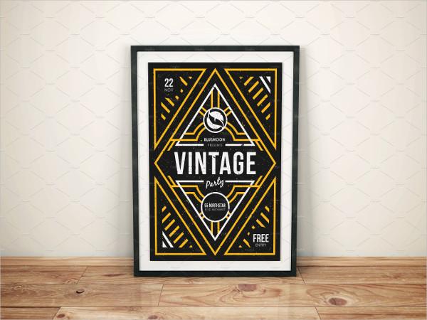 Vintage Party Poster Design