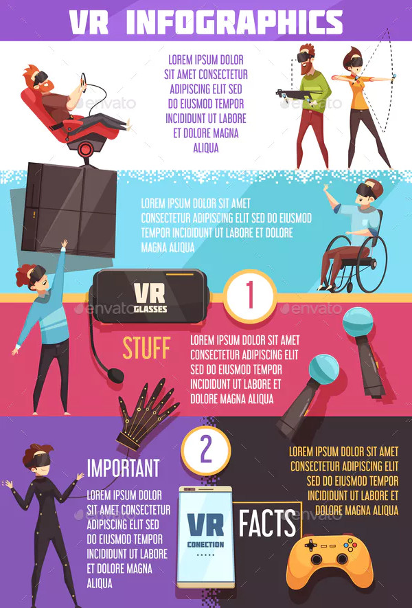 Virtual Reality VR Infographic Poster Template