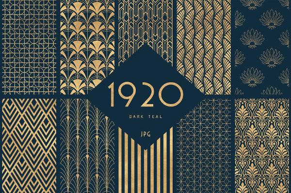 1920 Art Deco Seamless Patterns