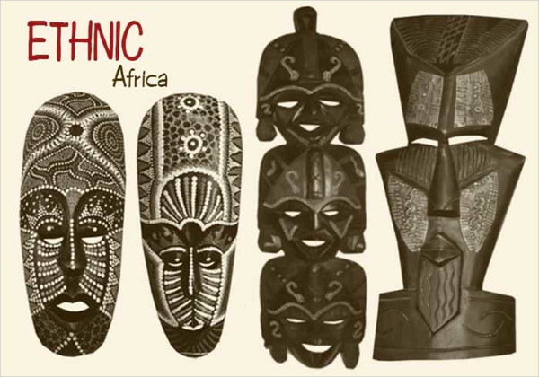 African Mask Brushes Free Download
