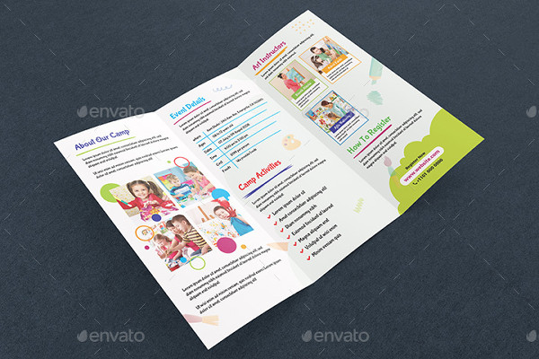 Art Camp Event Brochure