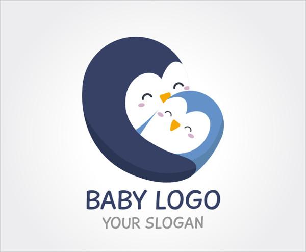 Baby Penguin Logo Free Download