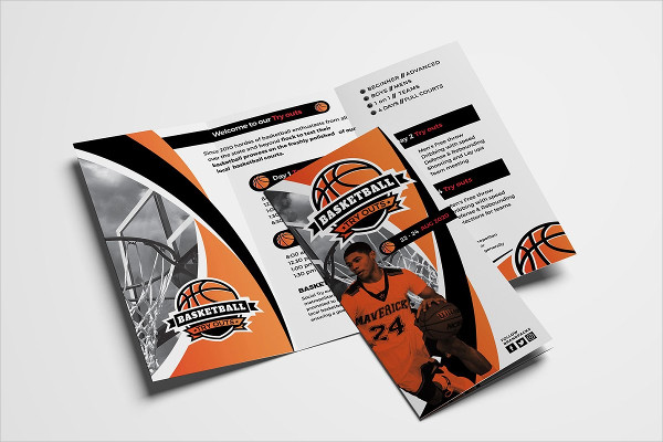 Basketball Camp Tri-Fold Brochure