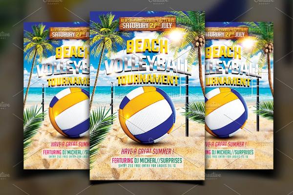 Beach Volleyball Flyer