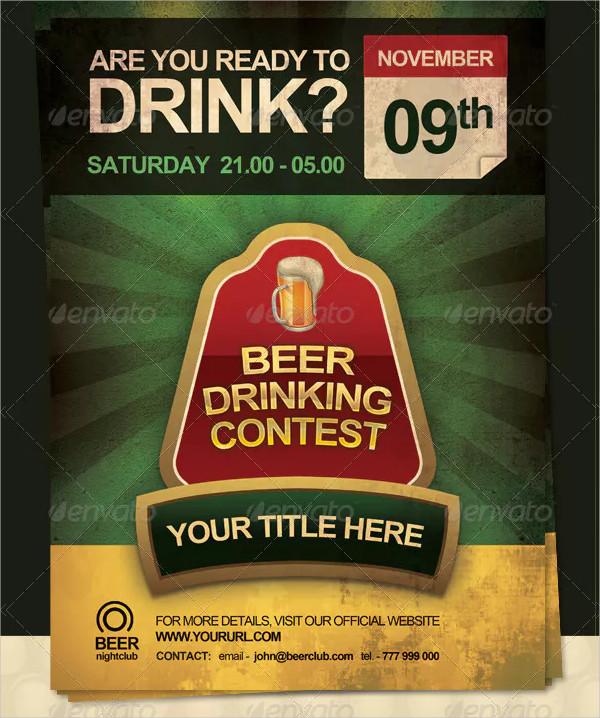 Beer Drinking Contest Flyer Design